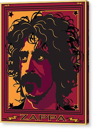 Frank Zappa Canvas Print by Larry Butterworth