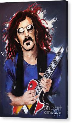 Frank Zappa Canvas Print by Melanie D