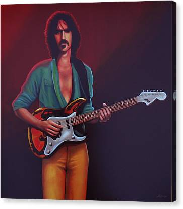 Frank Zappa Canvas Print by Paul Meijering