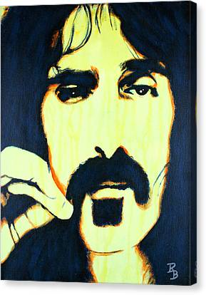 Canvas Print featuring the painting Frank Zappa Pop Art by Bob Baker