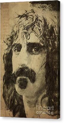 Frank Zappa Portrait Canvas Print by Pablo Franchi