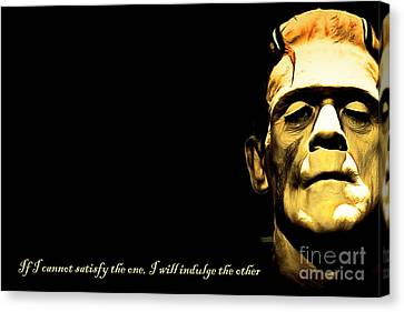 Frankenstein 20140921brunaille Horizontal With Text V2 Canvas Print by Wingsdomain Art and Photography