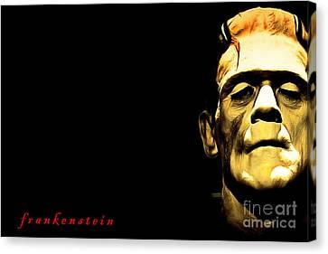 Frankenstein 20140921brunaille Horizontal With Text Canvas Print