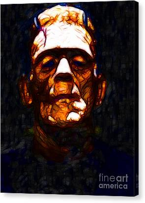 Frankenstein - Abstract Canvas Print by Wingsdomain Art and Photography