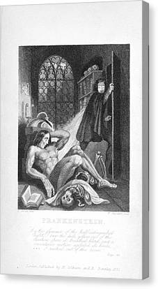Frankenstein And His Creature Canvas Print by British Library