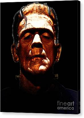Frankenstein - Black Canvas Print by Wingsdomain Art and Photography