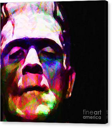 Frankenstein Fractal Square Canvas Print
