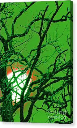 Frankenstein Moon Canvas Print by First Star Art