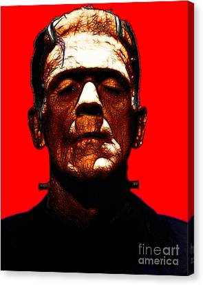 Frankenstein - Red Canvas Print by Wingsdomain Art and Photography