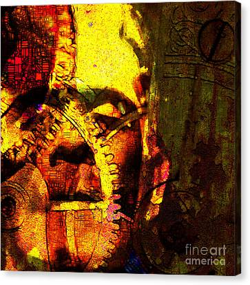 Horror Movies Canvas Print - Frankenstein The Man Machine 20130718 by Wingsdomain Art and Photography