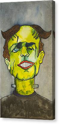 Frankensteins Monster As Tillie Canvas Print by Patricia Arroyo