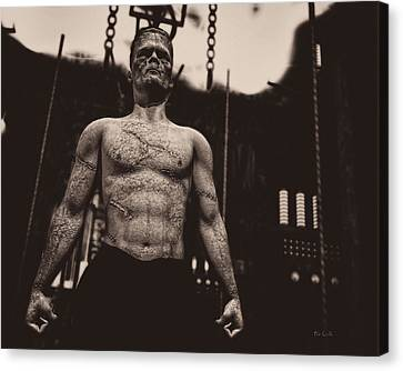 Thriller Canvas Print - Frankenstein's Science by Bob Orsillo