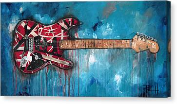 Jimmy Page Canvas Print - Frankenstrat by Sean Parnell