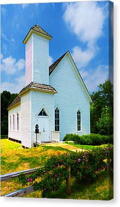 Frankford Church In Spring Canvas Print by Robert J Sadler