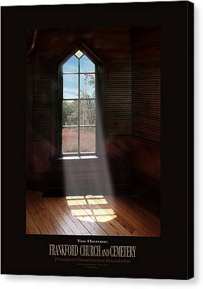 Frankford Church - Let The Sun Shine In Poster W Windmill Canvas Print by Robert J Sadler