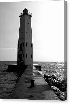 Frankfort Michigan Lighthouse Ll Canvas Print by Michelle Calkins