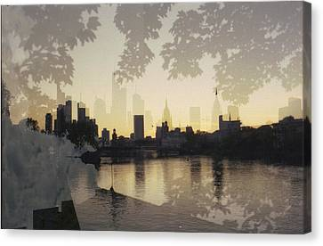 Frankfurt Am Main Canvas Print by Juan  Bosco