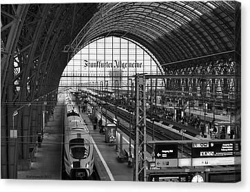 Frankfurt Bahnhof Canvas Print by Miguel Winterpacht