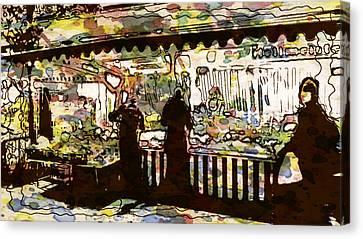 Frankfurt Germany Central Market Street 2 Canvas Print by Yury Malkov