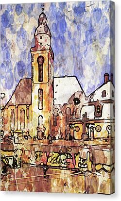 Frankfurt Germany Central Square 1 Canvas Print by Yury Malkov