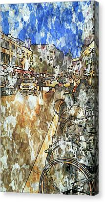Frankfurt Germany Downtown 1 Canvas Print by Yury Malkov