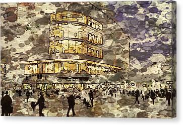Frankfurt Germany Shopping Street 2 Canvas Print by Yury Malkov