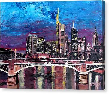 Frankfurt Main Germany - Mainhattan Skyline Canvas Print by M Bleichner