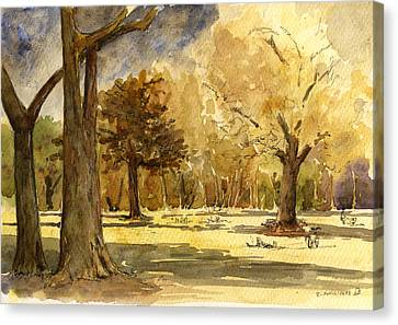 Frankfurter Park Canvas Print by Juan  Bosco