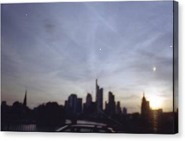 Frankfurter Skyline Canvas Print by Juan  Bosco