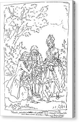 Franklin & Voltaire Canvas Print