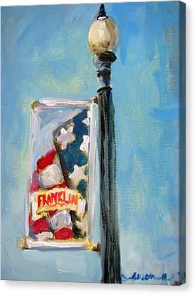 Franklin Banner Canvas Print by Susan E Jones