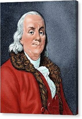 Franklin, Benjamin (1706-1790 Canvas Print by Prisma Archivo