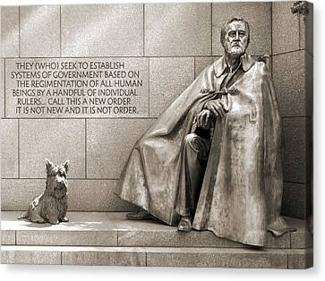 Franklin Delano Roosevelt Memorial - Bits And Pieces 7 Canvas Print by Mike McGlothlen