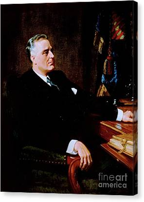 Franklin Delano Roosevelt Canvas Print by Pg Reproductions
