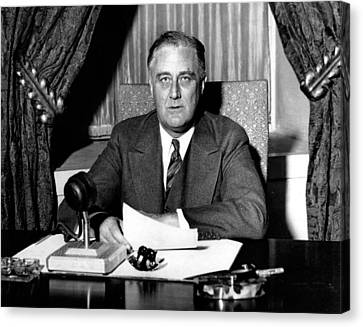 Franklin Delano Roosevelt Canvas Print by Unknown