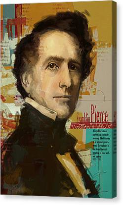 Franklin Pierce Canvas Print by Corporate Art Task Force