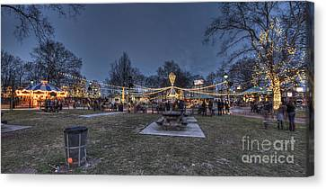 Franklin Square Electrical Spectacle Canvas Print by Mark Ayzenberg