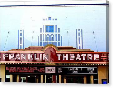 Franklin Theatre Canvas Print by Anthony Jones