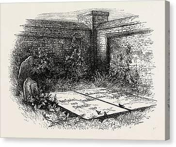 Philadelphia History Canvas Print - Franklins Grave At Philadelphia, United States Of America by American School