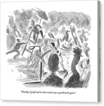 Tennis Canvas Print - Frankly, I Preferred It When Tennis by James Stevenson