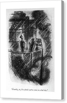 Foggy Day Canvas Print - Frankly, Sir, I'm Afraid You've Come On A Bad Day by Leonard Dove