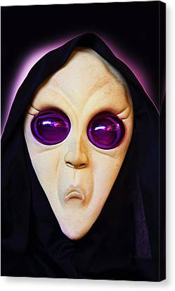 Franks Spooky Face Canvas Print by Linda Phelps