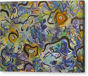 Frantic Rooster  Canvas Print by Lynda Lehmann