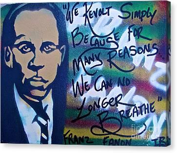 Franz Fanon Canvas Print by Tony B Conscious