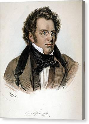 Schubert Canvas Print - Franz Peter Schubert (1797-1828) by Granger