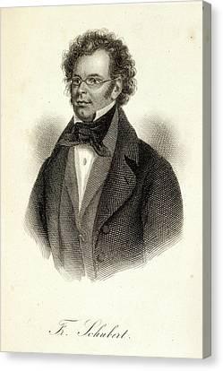 Schubert Canvas Print - Franz Schubert by British Library