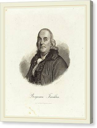 Benjamin Franklin Canvas Print - Franz Weber Austrian, 1760-1818, Benjamin Franklin by Litz Collection