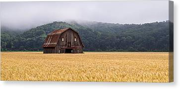 Canvas Print featuring the photograph Frechman Barn - Summer by Wayne Meyer