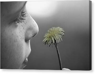 Freckles And A Flower Canvas Print
