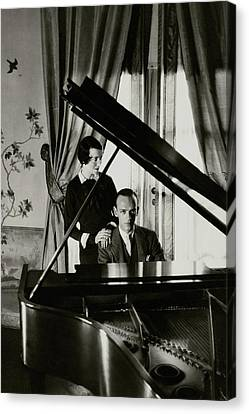 Adele Canvas Print - Fred And Adele Astaire At A Piano by Cecil Beaton